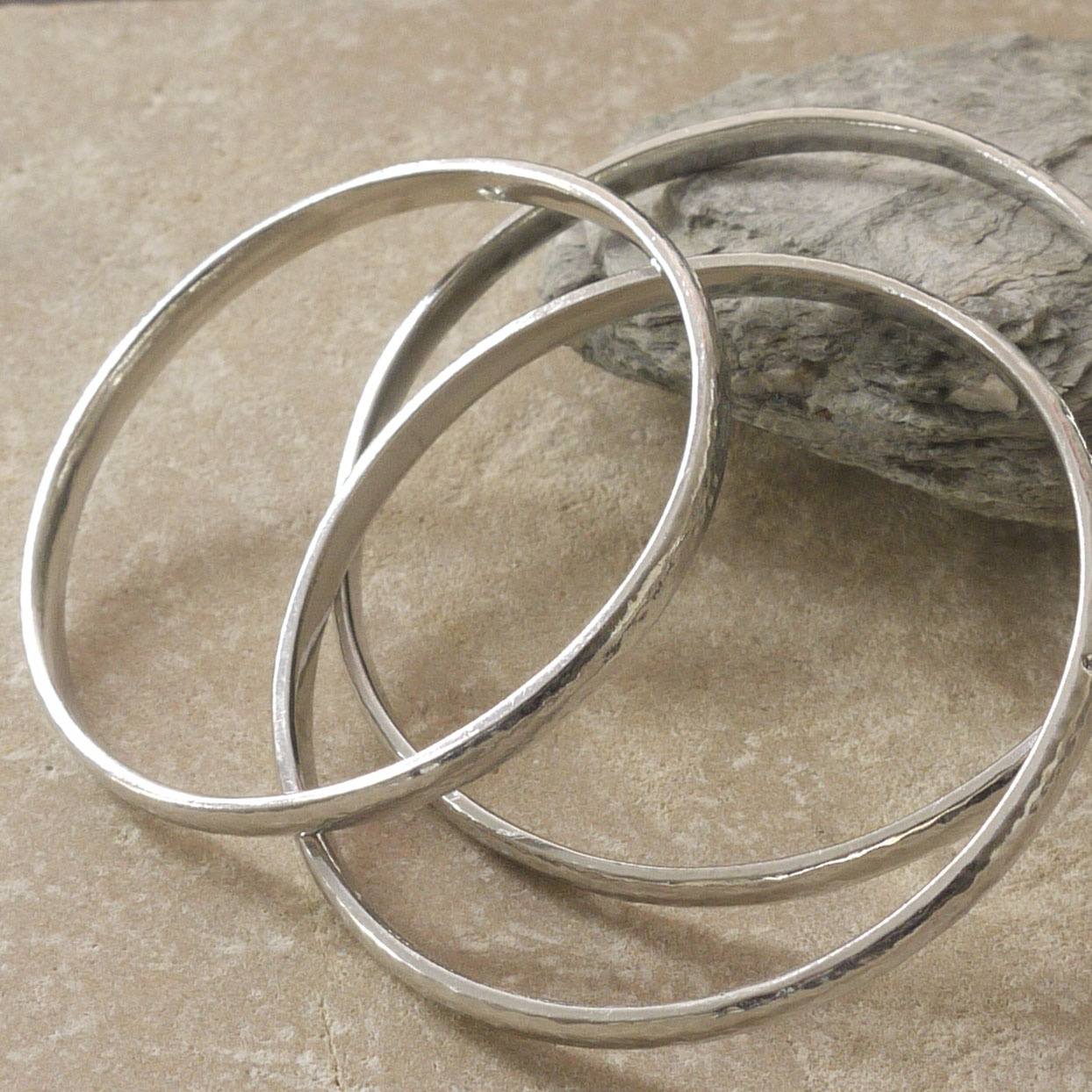 Three Cornish Tin Bangles