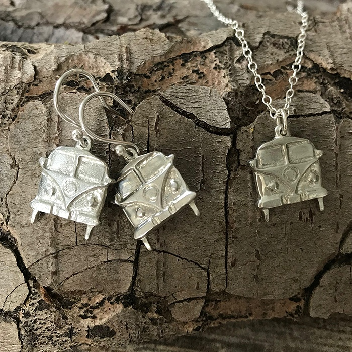 Camper Van Necklace & Earrings Set