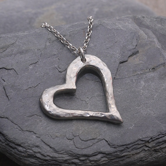 Abstract Heart Necklace