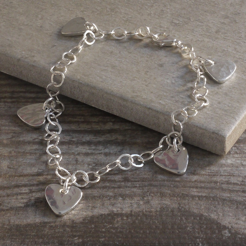 Bracelet with tin charms