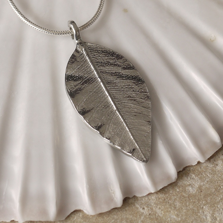 Cornish Tin Leaf Necklace