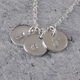 Personalised Tin Disc Initials Necklace