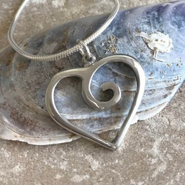 Heart Swirl Necklace