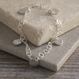 Bracelet with Tin Disc Charms
