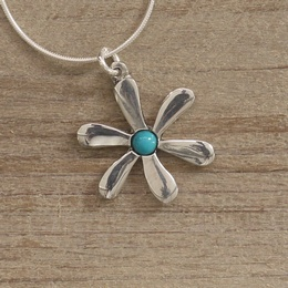 Daisy Necklace with Turquoise