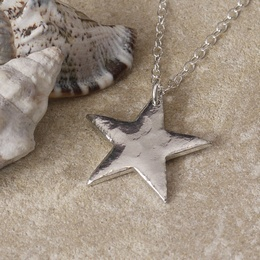 Tin Star Necklace