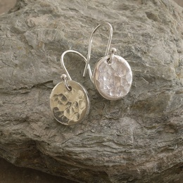 Hammered Tin Disc Earrings